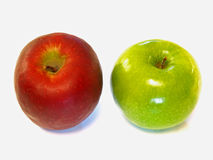 Red Apple & Green Apple royalty free stock image