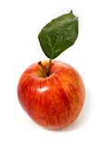 Red  apple with green leaf Stock Image