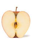 Red apple half Royalty Free Stock Photos
