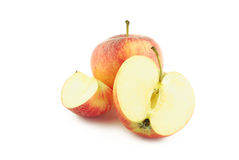 Red apple, half and a slice Royalty Free Stock Photography