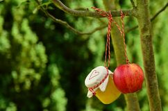 Red Apple Hanging on Tree at Daytime Stock Photos