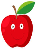 Red apple with happy face Royalty Free Stock Photo