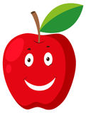 Red apple with happy face Stock Images