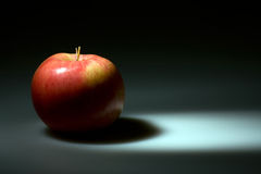 Red apple highlighted. A highlighted view of a fresh red apple Royalty Free Stock Photos