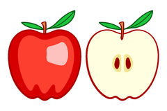Red apple icon illustration Stock Images