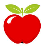 Red apple icon Royalty Free Stock Photos