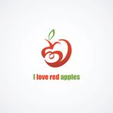 Red apple icon. Stock Image