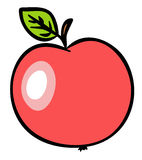 Red Apple Illustration. JPG and EPS Royalty Free Stock Images