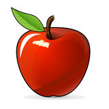 Red apple -  illustration. On a white background Stock Photo