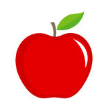Red apple illustration. On white background Stock Photography