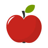 Red apple illustration. On white background Royalty Free Stock Image