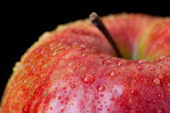 Red apple isolated on black Stock Images