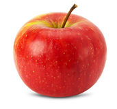 Red apple isolated on the white background Stock Image