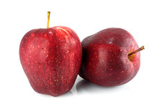 Red apple isolated on white background cutout Stock Photos