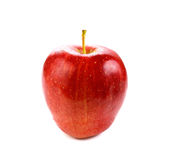 Red apple isolated on white background. Fresh red apple isolated on white background royalty free stock photo