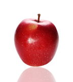 Red apple isolated on white background Stock Photos