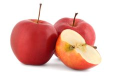 Red apple juicy Royalty Free Stock Photos