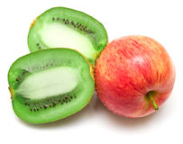 Red apple and kiwi Royalty Free Stock Photo