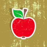 Red apple label Royalty Free Stock Images