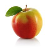 Red apple with leaf Royalty Free Stock Photos