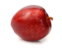 Red apple with leaf and slice. Red apple isolated on white. Collection. With clipping path Stock Photo