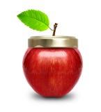Red apple like jam jar isolated. Royalty Free Stock Photo