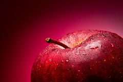Red apple. Macro. Stock Photography