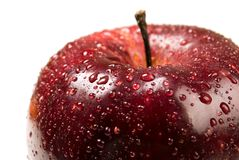 Red apple. Macro. Stock Images