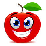 Red Apple Mascot Smiling. Vector Illustration of Red Apple Mascot Smiling Stock Image