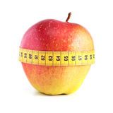 Red apple with measurement. Stock Photography