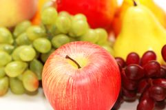 Red apple and other fruits Stock Images