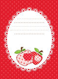 Red apple patchwork background Stock Photography