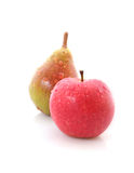 Red apple and pear Royalty Free Stock Photo