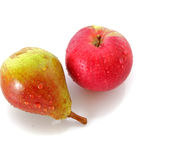 Red apple and  pear Royalty Free Stock Photos