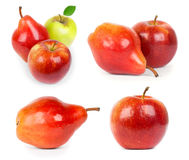 Red  apple and pear Royalty Free Stock Image