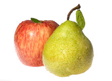 Red apple and pears Stock Photos