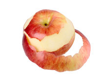 Red apple and peel Stock Image