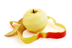 Red apple and peel Stock Photography