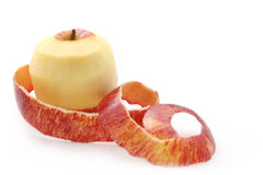 Red Apple Peeled Royalty Free Stock Photos