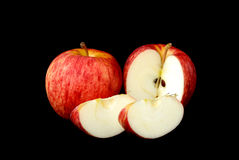 Red apple and piece Stock Photography