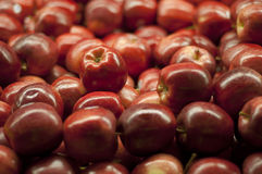 Red Apple Pile at Supermarket Royalty Free Stock Photo