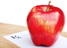 Red apple prescription Stock Photo