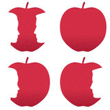 Red apple profile bites Royalty Free Stock Photography