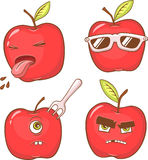 Red apple's face Royalty Free Stock Image