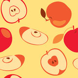 Red apple seamless. Background with red apple (seamless Stock Photos