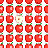 Red apple seamless pattern Royalty Free Stock Images