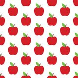 Apple pattern on the white background Royalty Free Stock Photos