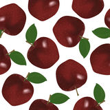 Red apple seamless pattern Stock Photography