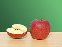 Red apple and section Royalty Free Stock Image