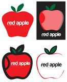 Red Apple Signs Logo Set Royalty Free Stock Images